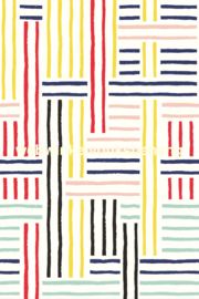 Eijffinger Stripes+ Behang. 377204 Modern/Breton Patch/Fotowand