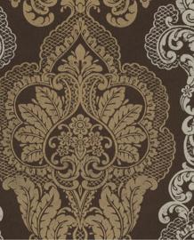 Eijffinger Salisbury Behang 355018 Klassiek/Barok/Ornament/Bruin/Goud