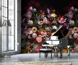 Behangexpresse Colorful Behang INK7319 Flower Explosion dark/Klassiek/Bloemen/Romantisch Fotobehang