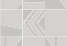 Hookedonwalls Tinted Tiles Behang 29042 Groove/Grafisch/Modern