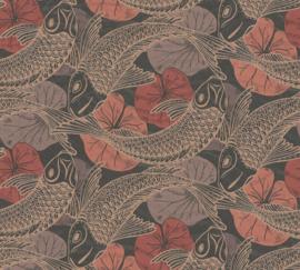 AS Creation Metropolitan Stories II Behang 37859-5 Tokyo/Mio/Vissen/Karpers/Dieren/Natuurlijk