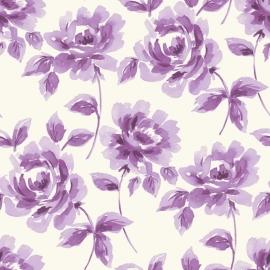 Esta Home Ginger Behang 128015 Romantisch/Bloemen/Paarse Rozen