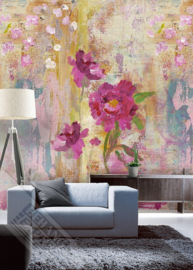 Behangexpresse Colorful Behang INK7314 Paint yr Wall/Romantisch/Aquarel/Bloemen Fotobehang