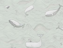 BN Wallcoverings Doodleedo Behang 220731 Dive into the Ocean/Walvis/Vissen/Dieren/Kinderkamer