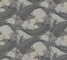 AS Creation Metropolitan Stories II Behang 37859-3 Tokyo/Mio/Vissen/Karpers/Dieren/Natuurlijk