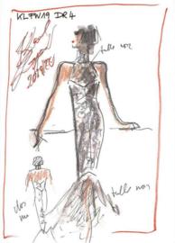 AS Creation Karl Lagerfeld Fotobehang DD120246 Sketch/Mode Schets/Karl/Avondjurk