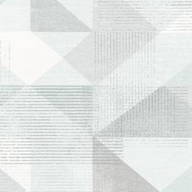 Rasch Galerie Geometrix Behang GX37652 Geometrisch/Modern/Mint Groen