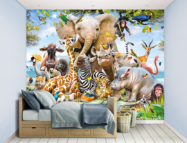 Walltastic Wall Mural Jungle Safari 45255 Fotobehang - Dutch Wallcoverings