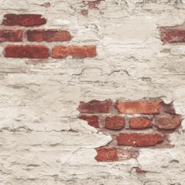 Noordwand Grunge Behang G45354 Steen/Landelijk/Modern/Verweerd/Baksteen