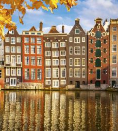 Dimex Fotobehang Houses in Amsterdam MS-3-0024 Huizen/Steden/Gracht