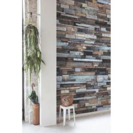 Dutch Wallcoverings One Roll One Motif Behang EP6001 Wood/Hout/Planken/3D