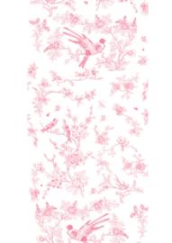Kek Amsterdam WP 376 Birds & Blossom Roze Fotobehang  - Dutch wallcoverings
