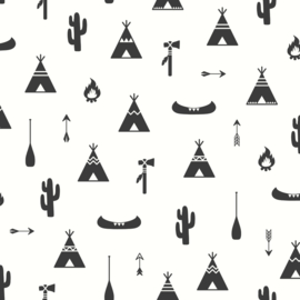 Puck & Rose 27117 Tipi/Cactus Behang -Behangexpresse