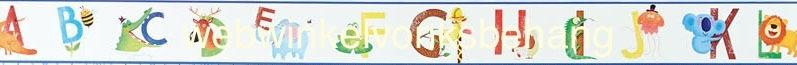 Eijffinger Hits4Kids  Behang 351727 Alfabet/Letters/Dieren/Babykamer