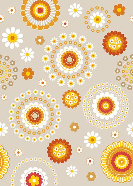 Behangexpresse Special Edition AK1024 Retro Floral/Modern/Bloemen/60/70 Jaren Fotobehang