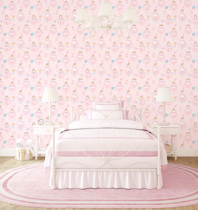 Behang Kinderkamer Roze.Noordwand Just 4 Kids 2 Behang G56002 Ballet Meisjes