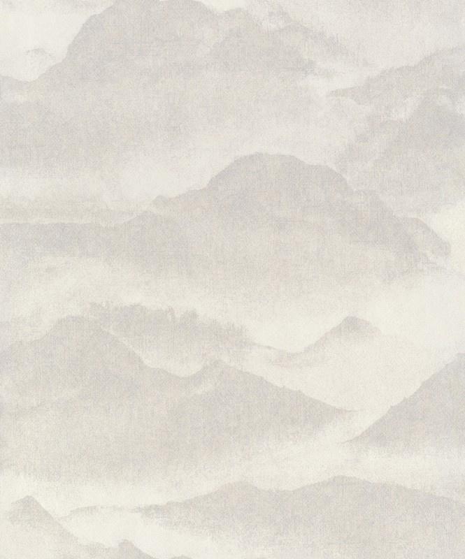 BN Wallcoverings/Voca Zen Behang 220310 Misty Mountain/Bergen/Mist/Landschap/Natuurlijk