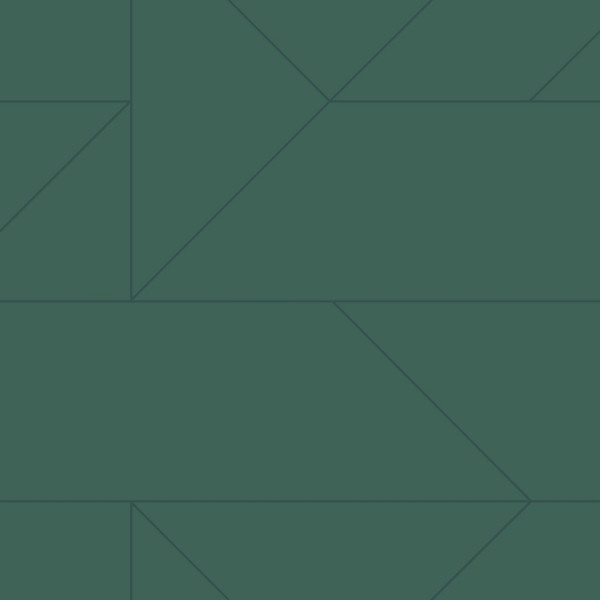 Origin City Chic Behang 353-347724 Grafisch/Modern/Lijnen/Donker Groen