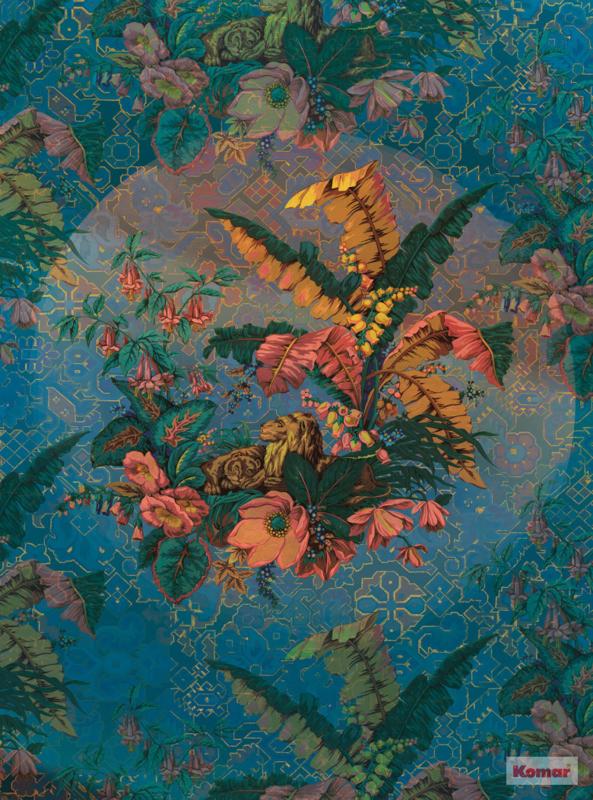 Komar Heritage ed.1 Fotobehang HX4-030 Orient Bleu/Bloemen/Klassiek Noordwand