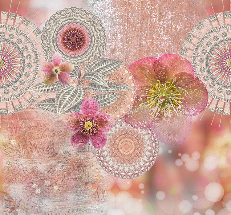 Behangexpresse Circle of Life/Select.D Fotobehang TD4185 Manilla/Mandala/Bladeren/Botanisch