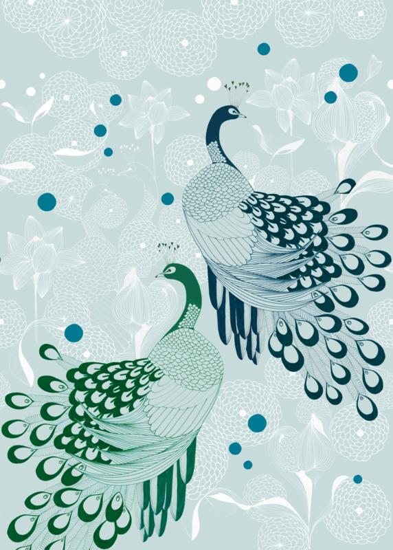 Onszelf Botanique Fotobehang 539158 Pauw/Peacock/Vogel/Botanisch