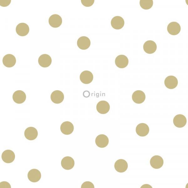 Origin Precious Behang 352-347674 Dots/Stippen/Polka/Kinderkamer/Goud