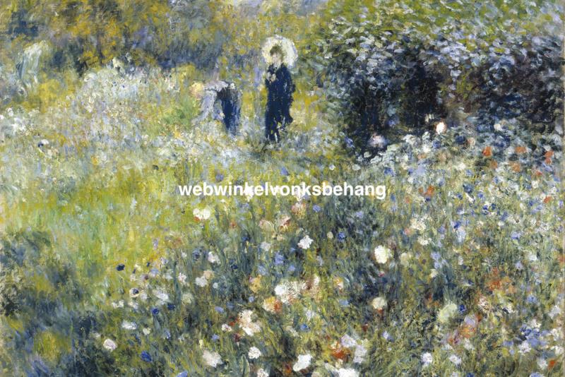 Dimex Fotobehang Woman in A Garden-Pierre Auguste Renoir MS-5-0256 Schilderij/Kunst/Vrouw in tuin