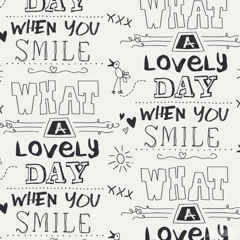 Noordwand Cozz Smile Behang 61166-06  Tekst/Smile/Lovely/Modern