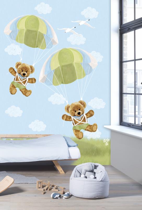 Behangexpresse Kay & Liv INK7017 Parachute/Beren/Peuter/Kleuter Fotobehang