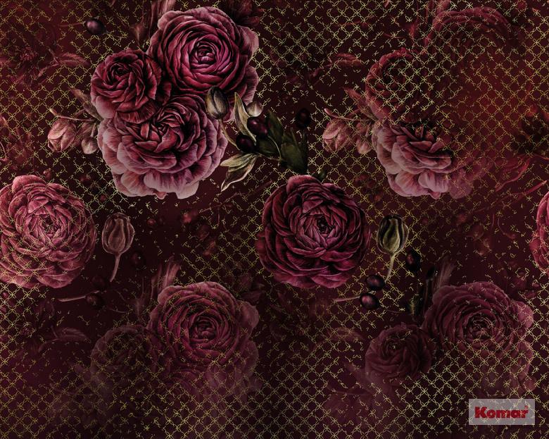 Komar Heritage ed.1 Fotobehang HX7-046 Rouge Intense/Bloemen/Romantisch Noordwand