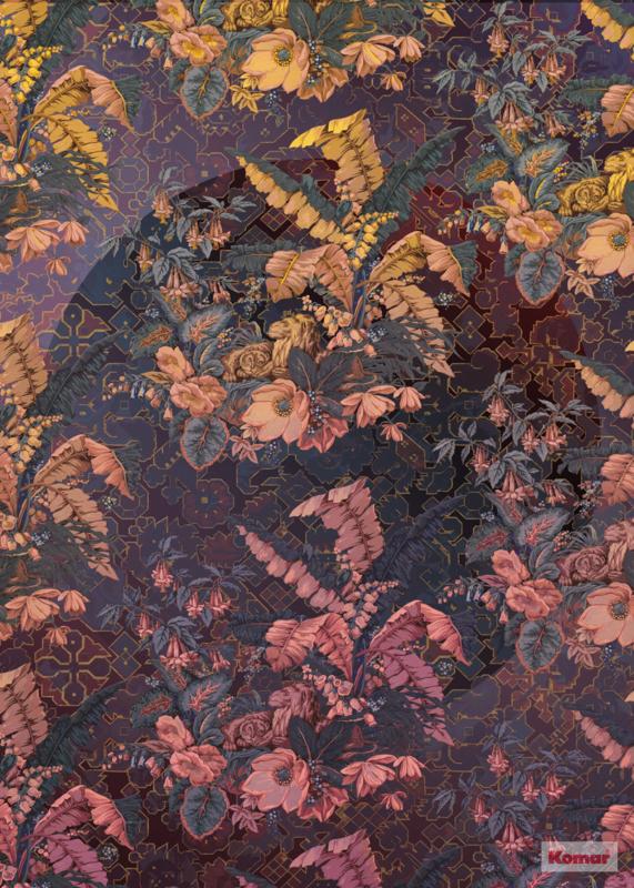 Komar Heritage ed.1 Fotobehang HX4-031 Orient Violet/Bloemen/Romantisch Noordwand