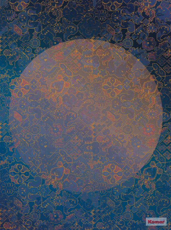 Komar Heritage ed.1 Fotobehang HX4-032 La Lune/Ornament/Maan/Cirkel Noordwand