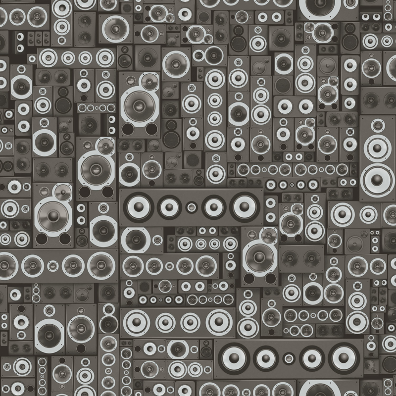 Noordwand Grunge Behang G45368 Muziek/Boxen/Modern/Tiener/Zwart/Zilver