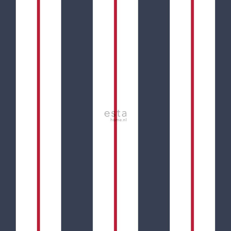 Esta Home Regatta Crew Surf Edition Behang 148-136415 Strepen/Jongens/Donker Blauw/Wit