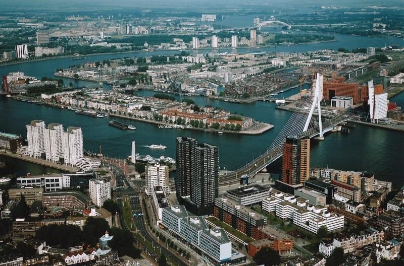 Fotobehang. Rotterdam bovenaanzicht
