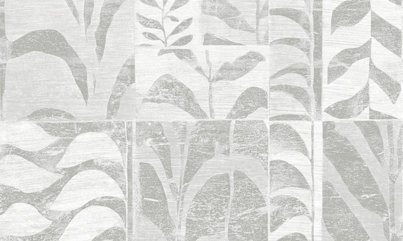 Arte Ligna Behang 42022 Canopy/Metaalfolie/Exclusieve Wandbekleding Botanisch Zilver