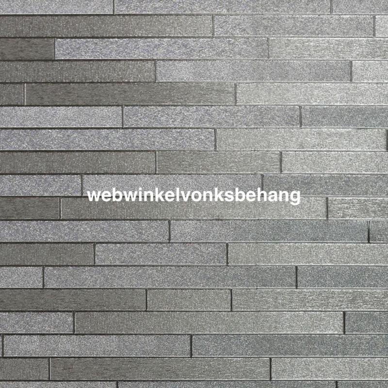 Arthouse Illusions  294600 Modern/Baksteen/Zilver Behang - Atwalls
