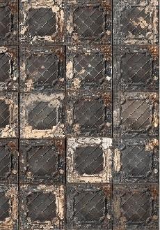 Arte Brooklyn Tins Behang Tin-07 Tegel/Vintage/Verweerd/Landelijk