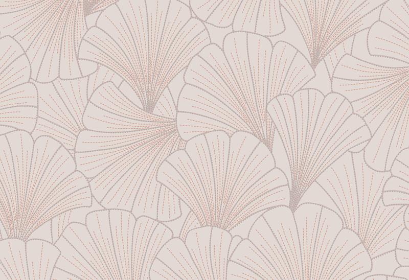 Hookedonwalls Exotique Behang 17281 Scala/Botanisch/Bladeren/Waaier