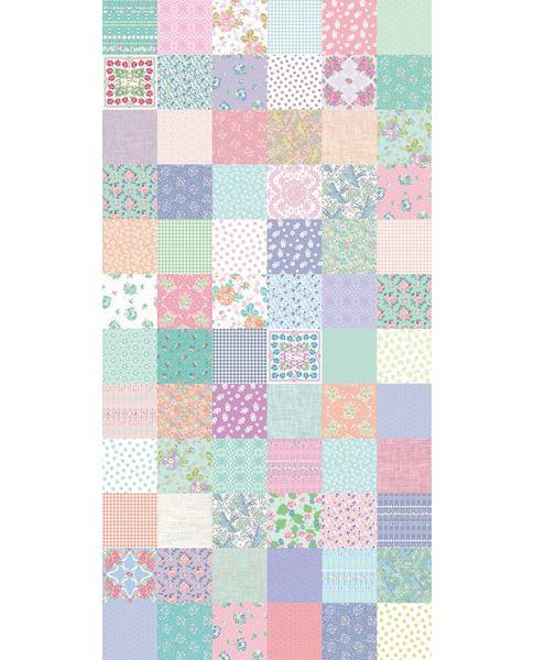 Eijffinger Rice Behang 359154 Patchwork/Pastel/Kinder Fotobehang