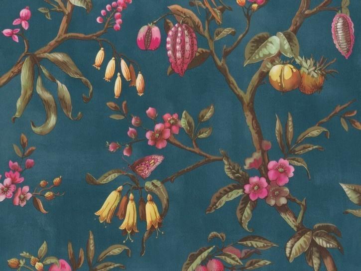 BN Wallcoverings/Voca Fiore Behang 220443 Birds of Paradise/Bloemen/Vogels/Botanisch