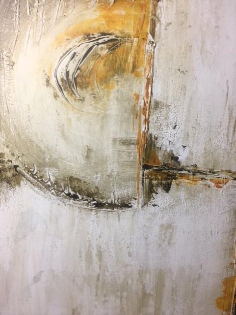 Wonderbaar Schilderij 14 /Kunst/Acryl/Gesso/Modern/Vintage/Abstract/Circle EH-37