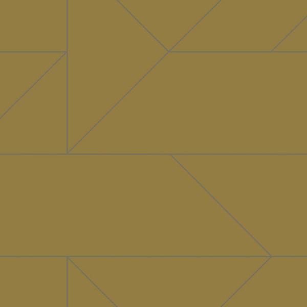 Origin City Chic Behang 353-347723 Grafisch/Modern/Okergeel/Bruingeel/Zilver