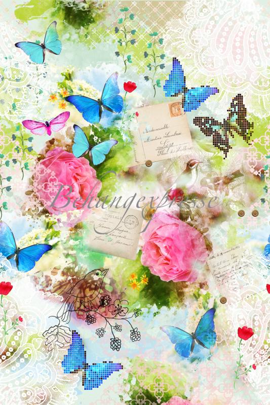 Behangexpresse Colorchoc Behang Ink6057 Romantisch Bloemen Vlinders Fotobehang Overzicht Deel 10 Vonk S Behang Webwinkel Behang