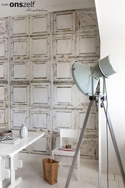 Onszelf Loft Fotobehang. OZ3706  Loft/Klassiek/Landelijk/Panelen/Vintage Behang