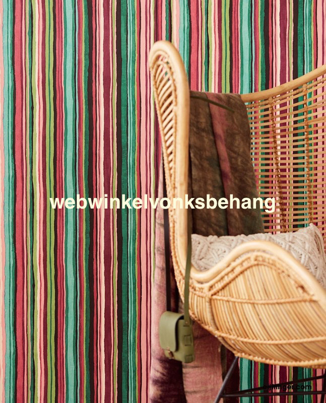 Eijffinger Stripes+  Behang. 377014 Strepen/Bonte kleuren