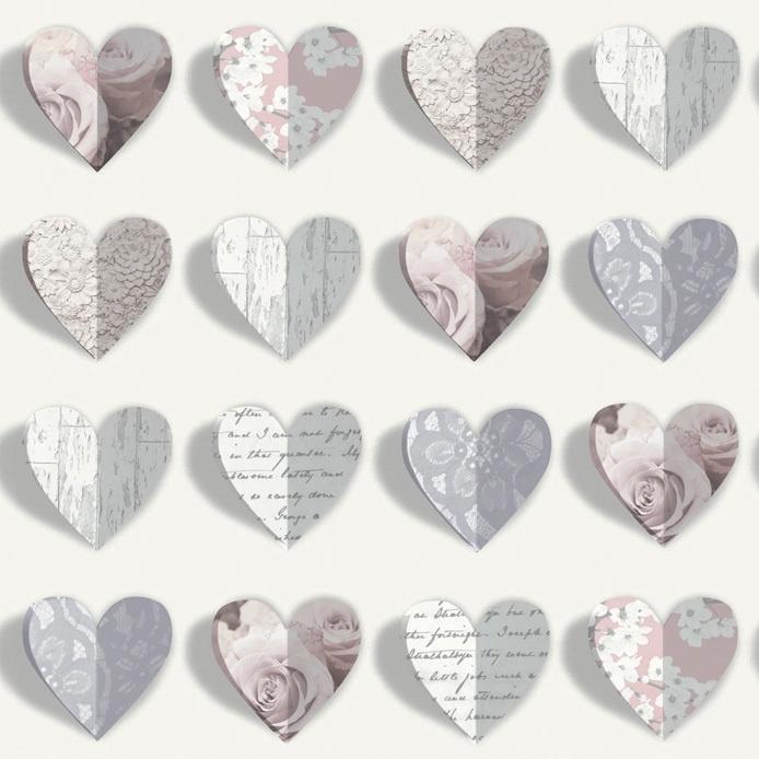 Arthouse Options2 Behang 669701 Hartjes/3D/Hearts