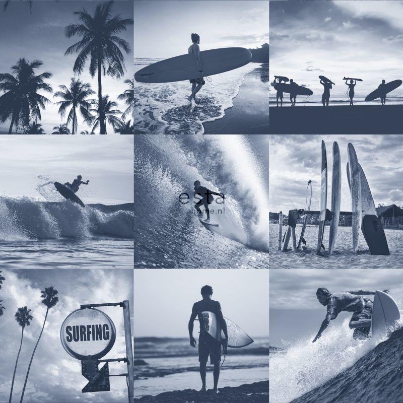 Esta Home Regatta Crew Surf Edition Behang 148-138954 Jongens/Surf/Beach
