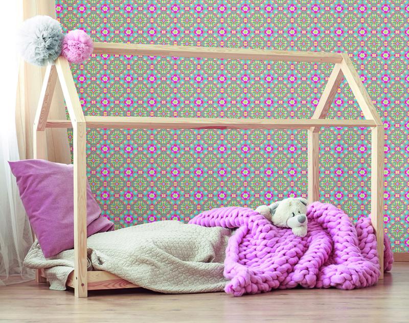 Behangexpresse Happy Living Fotobehang TD4027 Zaza Big/Ornament/Bloemen/a Spark of Happiness/Kinderkamer Behang