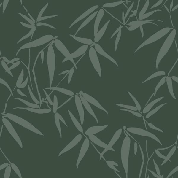 Origin City Chic Behang 353-347738 Bladeren/Bamboe/Natuurlijk/Donker Groen